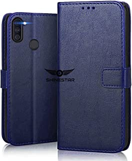 SHINESTAR Galaxy M11 Flip Case   PU Leather Flip Cover Wallet Case with TPU Silicone Case Cover for Samsung Galaxy M11 (Samsung Galaxy M11, Ultimate Blue)