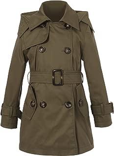 Girls' Classic Hooded Trenchcoat RH0934
