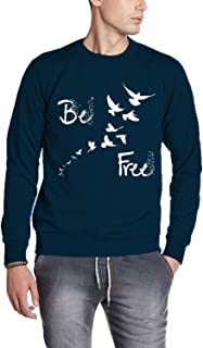 ADRO Men's Be Free Typography Printed Cotton Pullovers