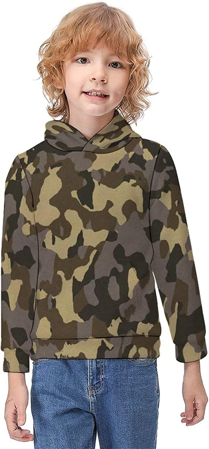 ODOKAY Unisex Kids Clothes Sweatshirts Printed Boys Hooded T-Shirts for Athletic