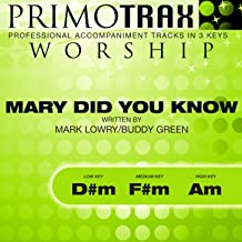 Mary Did You Know (Worship Primotrax) [Performance Tracks] - EP