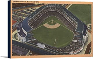 New York, NY - Yankee Stadium from the Air #2 (18x11 1/2 Gallery Wrapped Stretched Canvas)