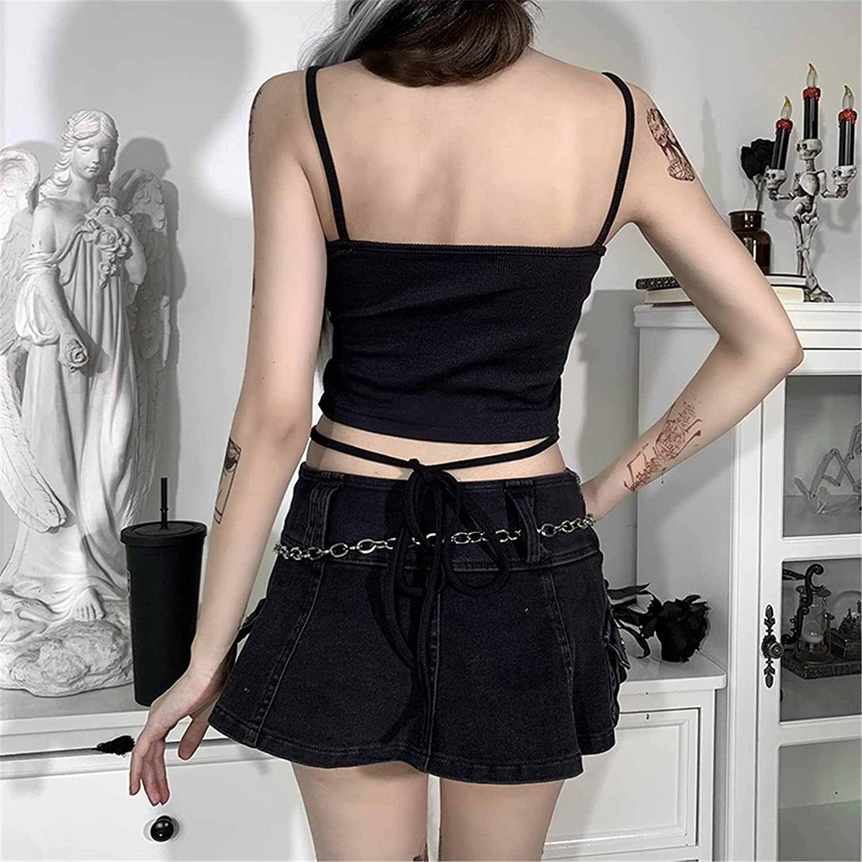 T-Shirts for Women Summer, Women Fashion Backless Print Condole Belt Sleeveless Vest Blouse Tops