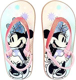 Chaussures Tongs Fille Minnie Mouse Disney | Glitter | Bande Élastique (24/25 EU) | Bleu Clair/Rose | Tailles du 24 au 35