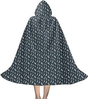 Puffin Navy Kids Hooded Cloak Creative Print Christmas Halloween Cosplay Costume Cape