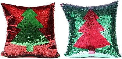 """DEI Tree Pillow, 16"""" sq, Multicolored"""