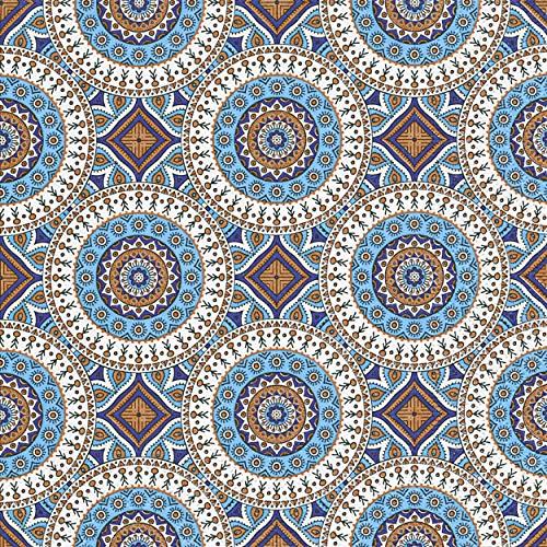20 Servietten Antike Kreise/Muster/Kreise/neutral/zeitlos 33x33cm