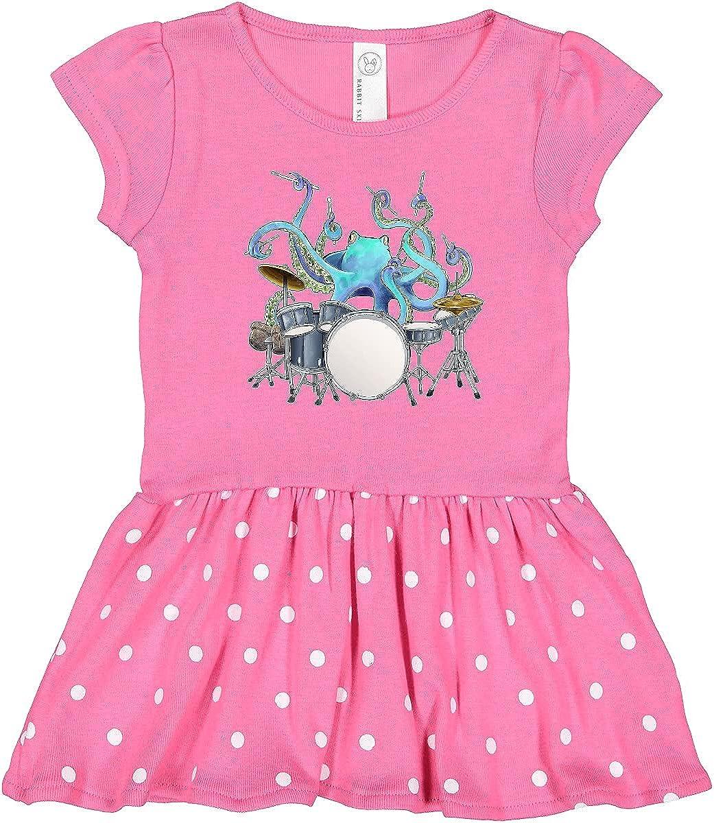 inktastic Super intense SALE Portland Mall Cute Blue Octopus Toddler Drumming Dress