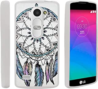 TurtleArmor | Compatible with LG Sunset Case | LG Power Case | LG Destiny Case [Flexible Armor] Flexible TPU Case Slim Fitted Soft Armor Cover - Dreamcatcher Feathers