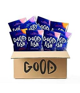 GOODFISH Crispy Salmon Skin Chips - Best Seller Pack (Pack of 8)