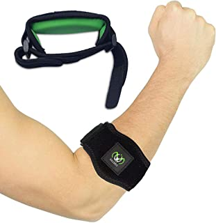 Tennis Elbow Brace with Compression Pad[2 Count] – Adjustable tennis elbow Strap, Support for Tennis & Golfers Elbow, Pain...