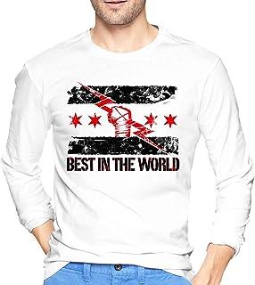 maichengxuan cm Punk Best in the World Fashion Casual Basic Camiseta de manga larga