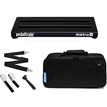 "Pedaltrain PT-M16-SC Metro 16 with Soft Case 3 Rails - 16"" x 8"""