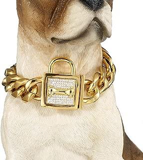 Didog Luxury Titan Choke Chain Collar,Dog Training Collars,Best for Pit Bull Bulldog Doberman,Mastiff