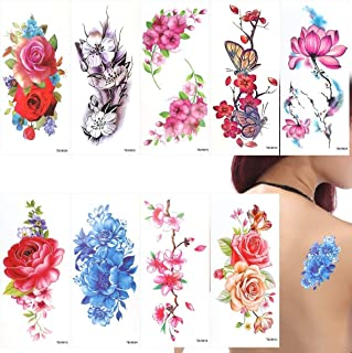 Temporäre Blumen Tattoos Aufkleber Lotus Kirschblüten Blit