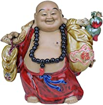 Ceramics Laughing Buddha Statues Chinese Feng Shui Decoration Maitreya Lucky Laughing Buddha Decoration Sculptures Prosperity