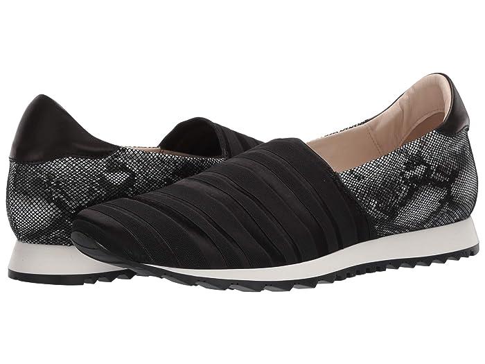 Amalfi by Rangoni  Felipe (Black Ellex Fabric/Black VIP Pearl/Black Parm) Womens  Shoes