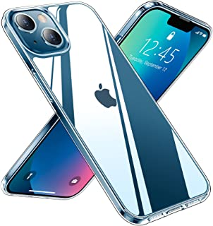Red2Fire Clear Designed for iPhone 13 Case, [Anti-Yellowing] Slim Thin Transparent Anti-Scratch Shockproof Protective Crys...