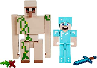 Minecraft Craft-A-Block 2-Pk, Action Figures & Toys To Create, Explore And Survive, Authentic Pixelated Designs, Collectib...