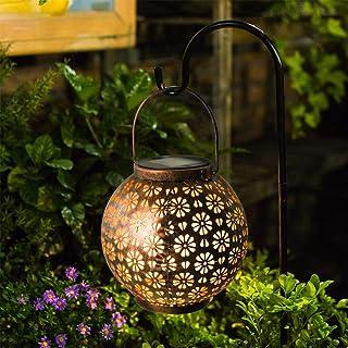 Osaloe Linterna Solar Exterior, Lámpara de Jardín de impermeable IP65, Iluminación Decorativa Solar LED, Luces Solares Inalámbrico para Fiesta, Parque, Boda, Senderos, Patio, Navidad