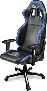 Sparco 00976NRAZ Black, Blue Grip Gaming Seat