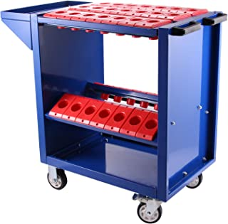 Mophorn Tool Cart 40 Taper Tool Holder CNC Tool Cart 35 Capacity CAT40 BT40 Service Carts with Wheels Heavy Duty (BT40 35 Capacity)