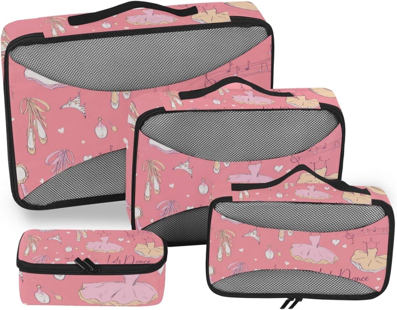 Ballerina Packing Cubes 4-Pcs Stora Ranking TOP14 Organizer Accessories Travel SALENEW very popular
