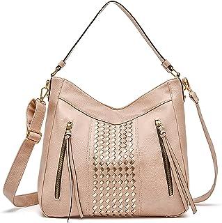 حقائب هوبو كبيرة للنساء جلد نباتي حقائب الكتف دلو حقائب مع حزام كروسبودي، حقيبة متعددة الجيوب
