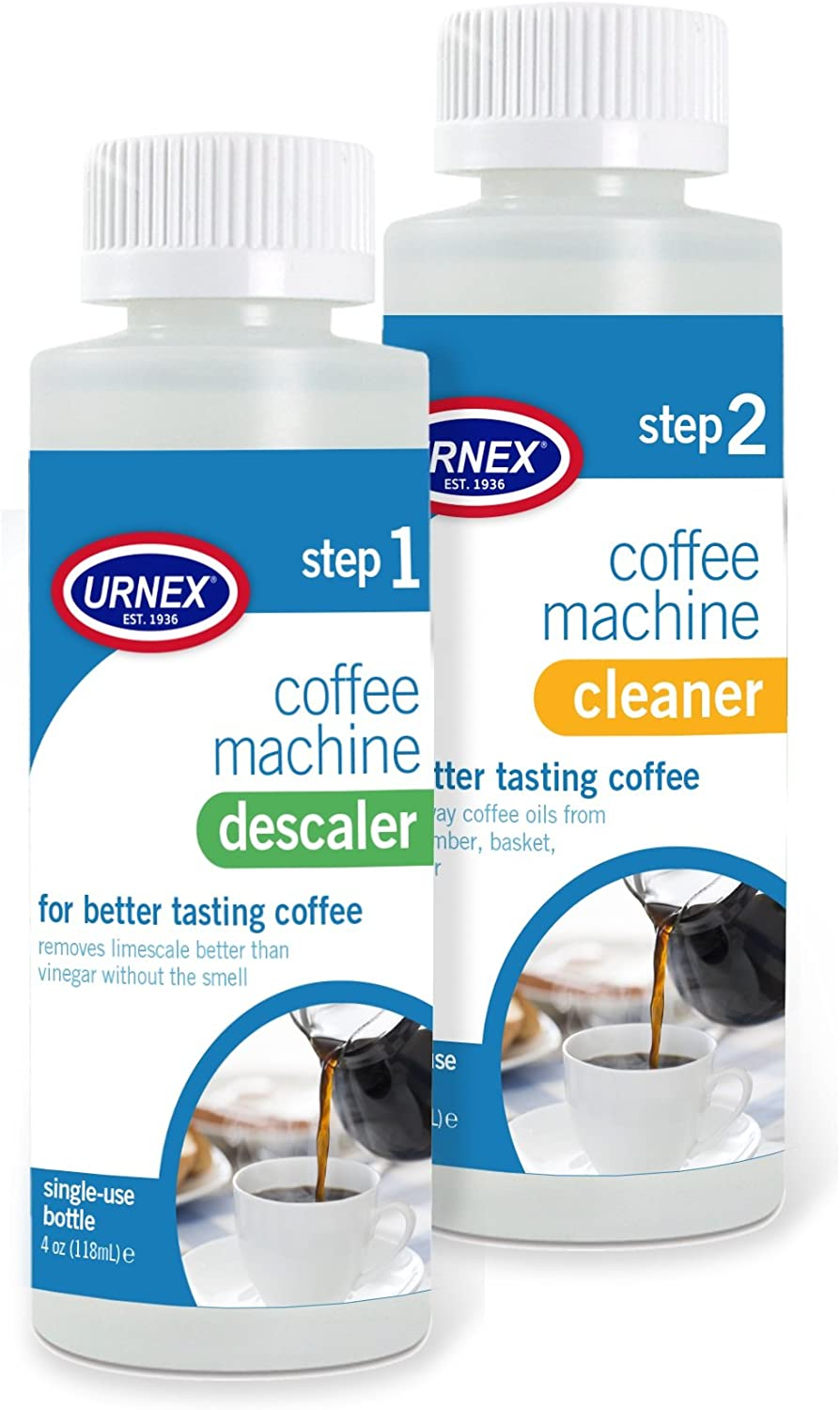 Urnex Coffee Maker Cleaner and Descaler Kit Bottl 2 Use Purchase Single - At the price of surprise
