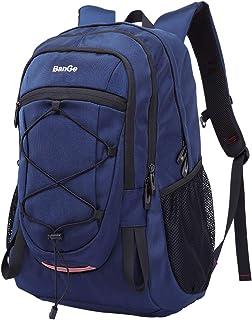 Mochilas Hombre Grandes 40L Mochilas Deportes Viaje Trekking Daypack Mujer Impermeable Subir Bolsas de Vuelta Camp Caminata Portátil Bolsa, Negro/Azul
