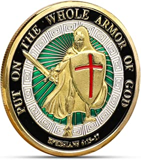 30PC Put on The Whole Armor of God Commemorative Challenge Coin Collection Gift New (GLOD)