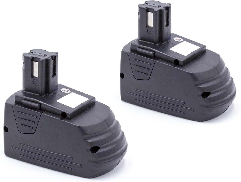 vhbw 2 x NiMH Batería 2100mAh(12V) para su Herramienta Hilti SB12, SF120-A, SF121-A, SID 121-A, SFL 12/15 Flashlight por Hilti SFB121, SFB126, SFB126A