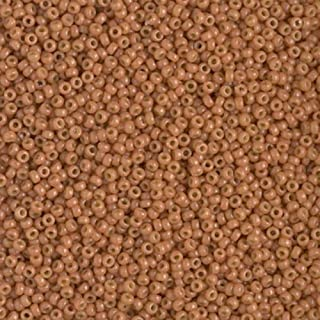 Miyuki Round Rocaille Seed Beads Size 15/0 8.2GM-Tube DURACOAT Opaque Creamy Coral 15-4457