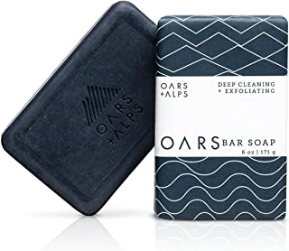 Oars + Alps Exfoliating Bar Soap, Natural Skin Care, With Hydrating Shea Butter and Exfoliating Activated Charcoal, Vegan ...