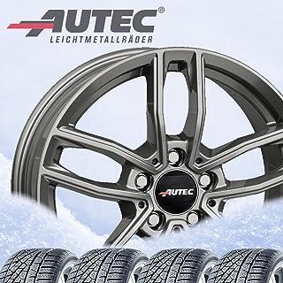 Mercador 4 complete winterwielen 6,5x16 ET 44 5x112 titanium zilver met 205/60 R16 92H Nexen Winguard Snow G 3 WH21 M+S 3PMSF
