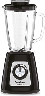 Moulinex LM430810 Blender Blendforce Bol Verre 800W Mixeur Électrique Smoothie Glace Pilée Fruits Légumes Noir