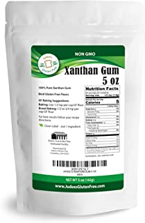Judee's Xanthan Gum Gluten Free(5 oz) - USA Packaged & Filled - Dedicated Gluten & Nut Free Facility - Perfect for Low Carb Keto Cooking & Thickening Sauces & Shakes. Non-GMO