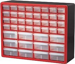 Akro-Mils 10144 D saklama kutusu, alet ve el işi aksesuarları için, 50,8 x 40,6 x 16,5 cm, siyah, 10144REDBLK