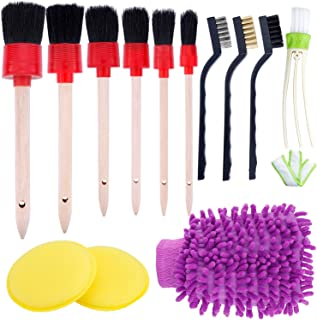 13PCS Auto Detailing Brush Set for Cleaning Car Motorcycle Automotive Cleaning Wheels, Dashboard, Interior, Exterior, Leat...