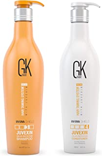 Global Keratin GKhair Shield Shampoo and Conditioner Duo (650ml/ 22 fl. oz) | Against Sun, UV/UVA Rays | For Dry, Split Ends with Aloe Vera and Natural Oils - All Hair Types