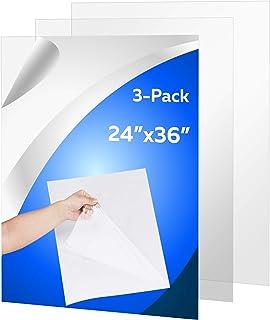 "(3 Pack) PET Sheet Panels - 24"" x 36"" x 0.03"" Plexiglass-Quality Lightweight and Shatterproof Glass Alternative Perfect fo..."