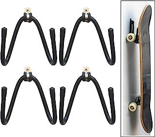 YYST Skateboard Wall Mount Wall Hanger Rack Storage Display - 4/PK - W/Hardware - No Board Included - W Style