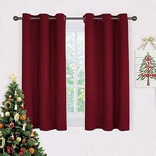 dark red kitchen curtains