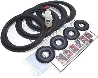Complete 4 KEF 104/2, 105/3 Speaker Foam Surround Repair Kit w/Donut caps