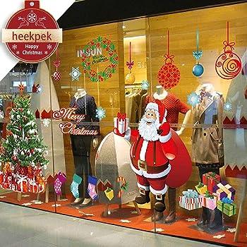 Christmas Removable Vinyl Window Wall Sticker Snowflake Xmas Santa Decor Cl J5Z2