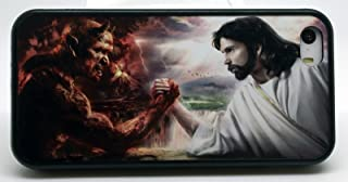 Good Vs Evil Jesus Vs Devil Christian Christ Phone Case Cover - Select Model (Galaxy S3)