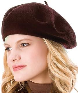 ICSTH فرينش بيريه - قبعة صغيرة للنساء بلون سادة