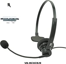Professional Single Ear Noise Canceling Office/Call Center Headset with RJ9 Quick disconnect Cord Works with Cisco, Avaya, Polycom, Mitel, Yealink, Grandstream, NEC, Nortel, Shoretel, Allworx & more