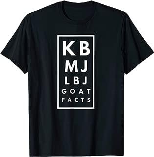 KB > MJ > LBJ Basketball GOAT T-shirt