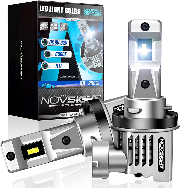 NOVSIGHT H11 H8 H9 LED 25% OFF List price Headlight 1:1 12000 Bulbs Size Lumens De
